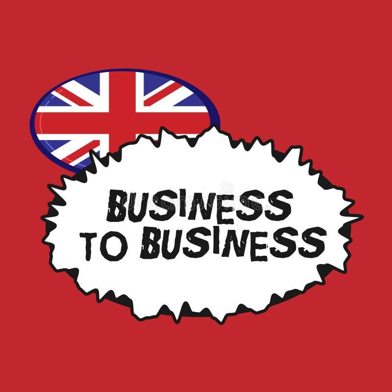 Mostrar da nota da escrita interempresarial Foto do negócio que apresenta uma transação comercial entre dois negócios ilustração royalty free