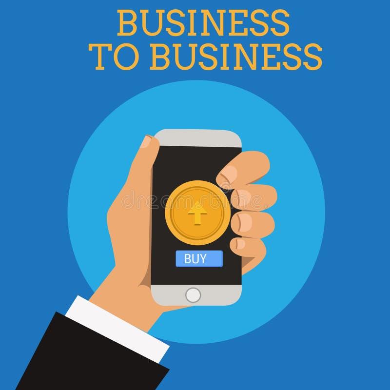 Mostrar do sinal do texto interempresarial Transação comercial da foto conceptual entre dois negócios ilustração do vetor