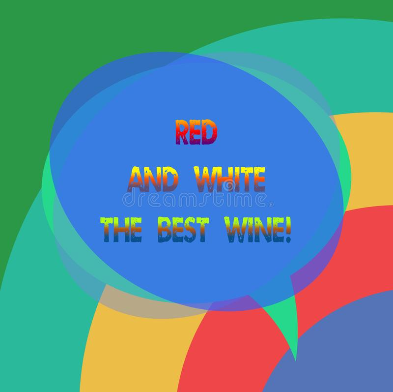 Mostrar do sinal do texto vermelho e branco o melhor vinho Discurso vazio perito de prova da adega a mais fina conceptual das beb ilustração stock