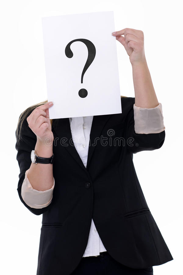 Mostrar el signo de interrogación imágenes de archivo libres de regalías