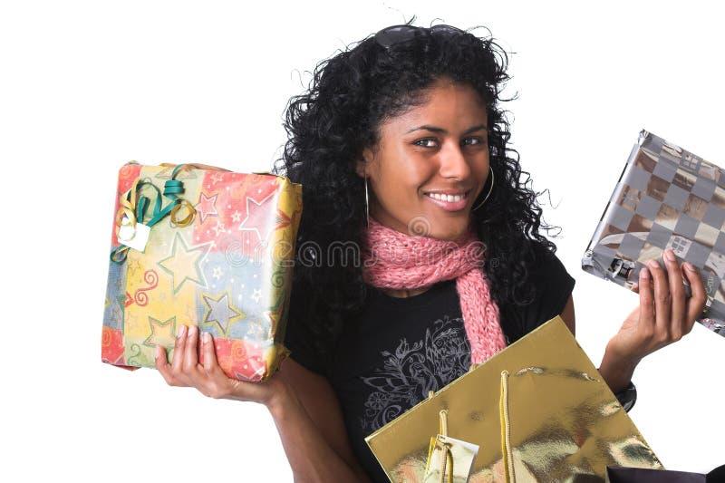 Mostrar los presentes fotos de archivo libres de regalías