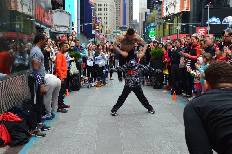 Mostras da rua de New York City/Times Square fotos de stock royalty free
