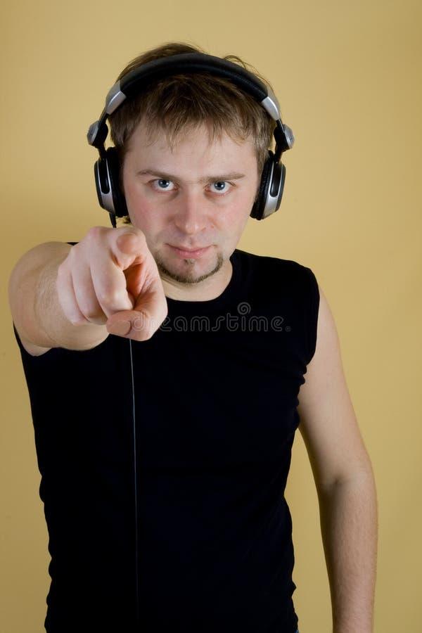 Mostras do DJ em você foto de stock