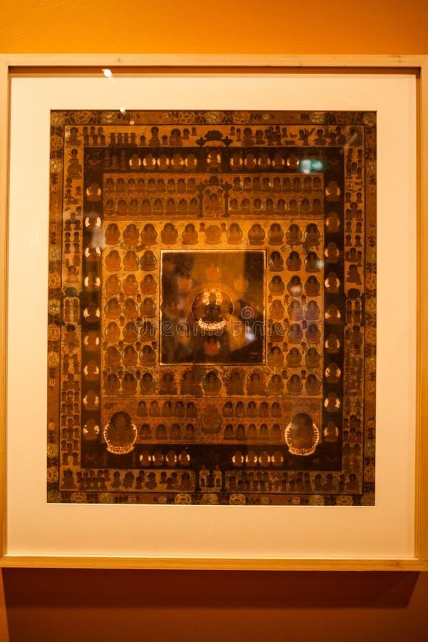 Mostre antiche di arte nel museo nazionale fotografia stock libera da diritti