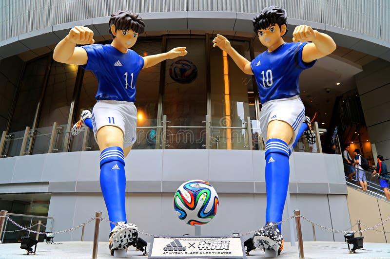 Mostre di calcio della coppa del Mondo di Adidas a Hong Kong fotografia stock