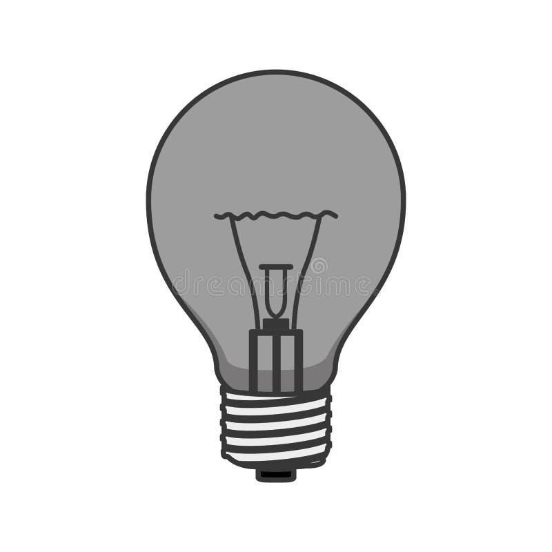 Mostre em silhueta o bulbo do ligth bonde com tampões e filamentos ilustração do vetor