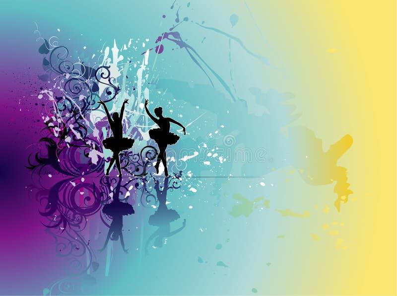 Mostre a ilustração da dança ilustração royalty free