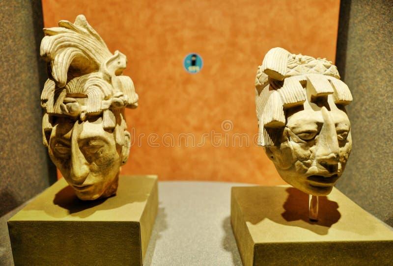 Mostre nel museo nazionale di antropologia, Città del Messico fotografia stock