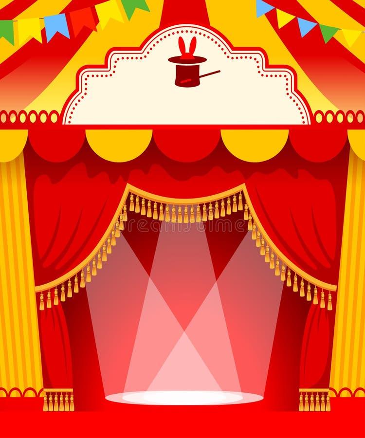 Mostre o cartaz ilustração royalty free