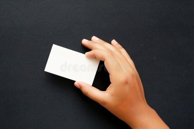 Mostre seu cartão foto de stock