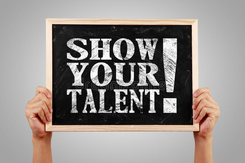 Mostre seu talento imagens de stock