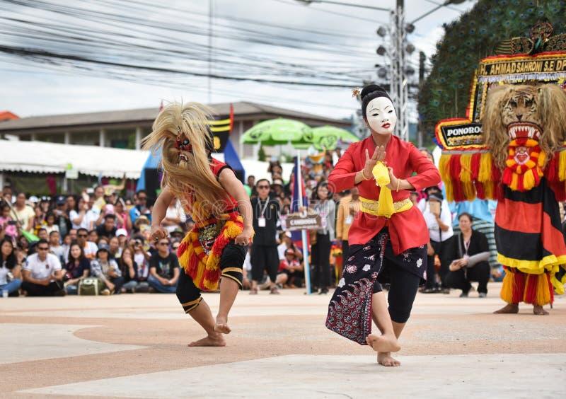 Mostri il ballo dall'Indonesia fotografie stock libere da diritti