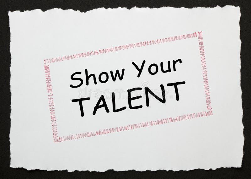 Mostri il vostro talento immagine stock