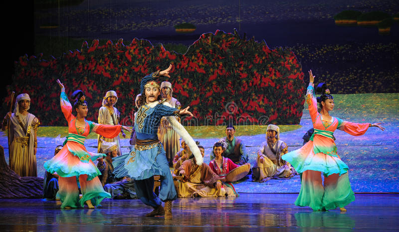 Mostri la luna di balletto di dancing-Hui sopra Helan immagini stock