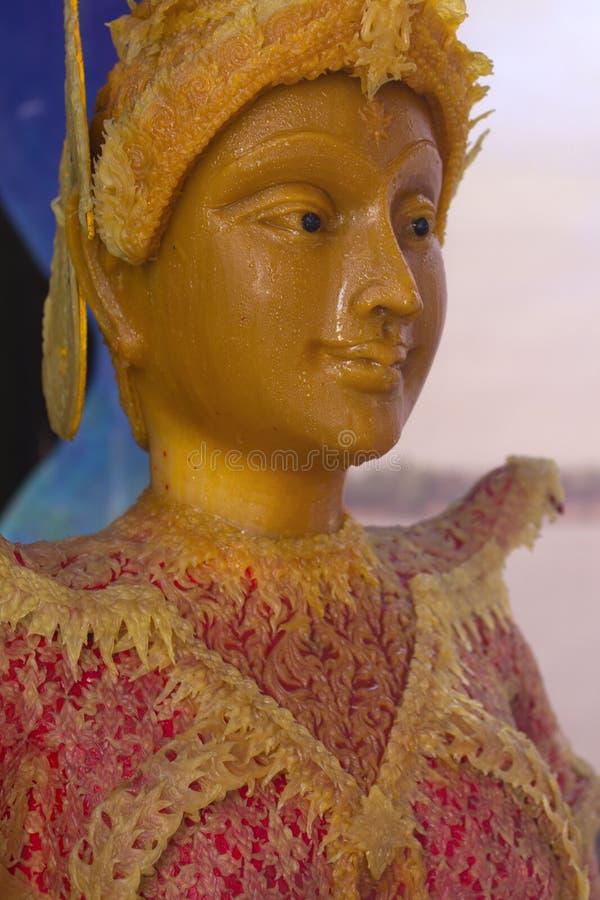 Mostri la statua di cera di modello del materail di angelo fotografia stock