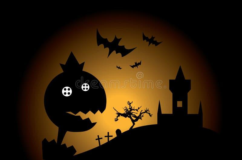 Mostro di Halloween illustrazione di stock