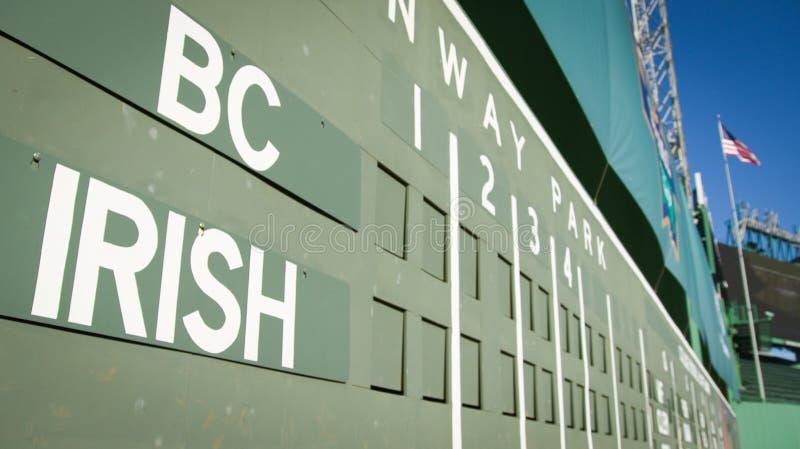 Mostro di verde di Fenway BC contro la serie irlandese dell'acetosella fotografia stock