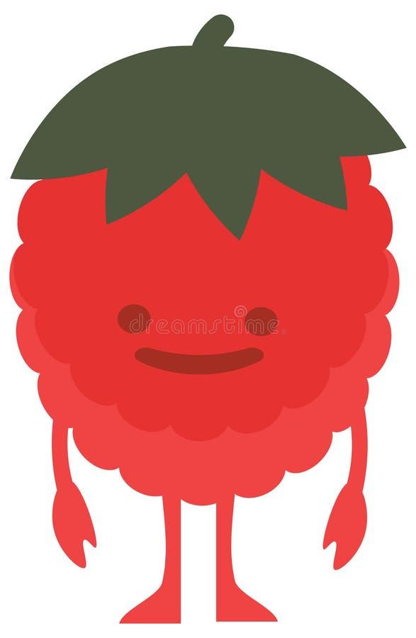Mostro piano dei lamponi degli agrumi dell'insieme di colore di estate di scarabocchio del fumetto della stampa felice royalty illustrazione gratis