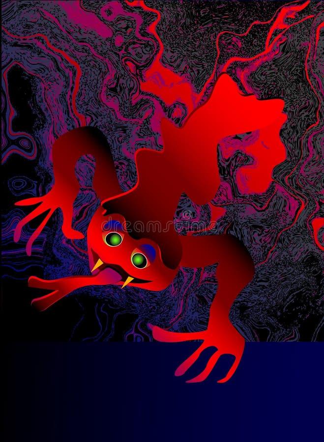 Mostro spaventoso rosso di Halloween illustrazione di stock