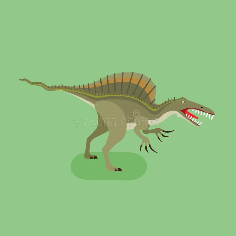 Mostro Spinosaurus illustrazione di stock