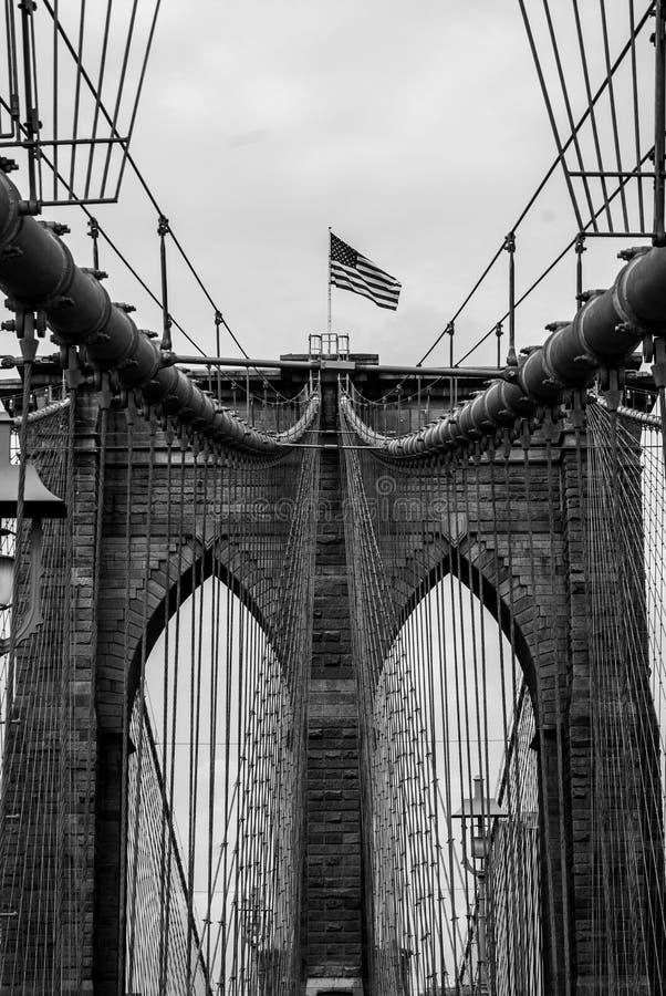 Mostu Brooklyńskiego portreta Formalnie aspekt obraz stock