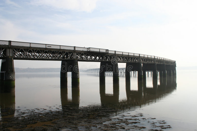 mostu kolejowego, Dundee tay zdjęcie royalty free