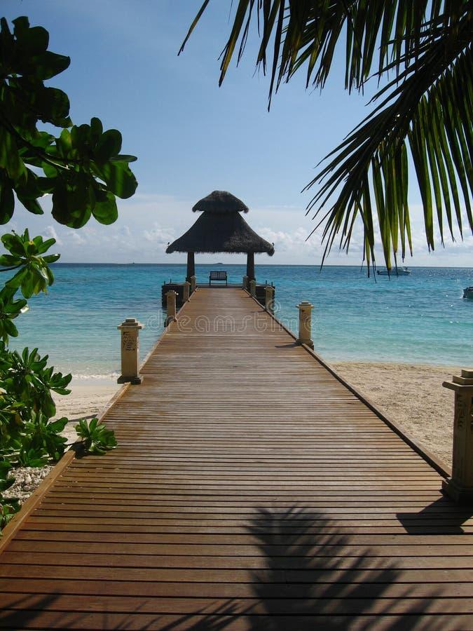 mostu plaży domu drewna zdjęcia stock