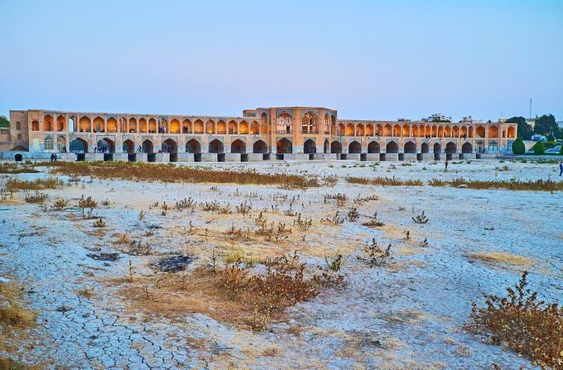 Mosty Isfahan, Iran zdjęcie stock