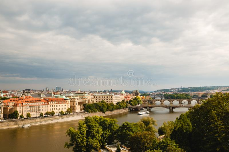 Mosty na Vltava w Praga, republika czech obraz royalty free