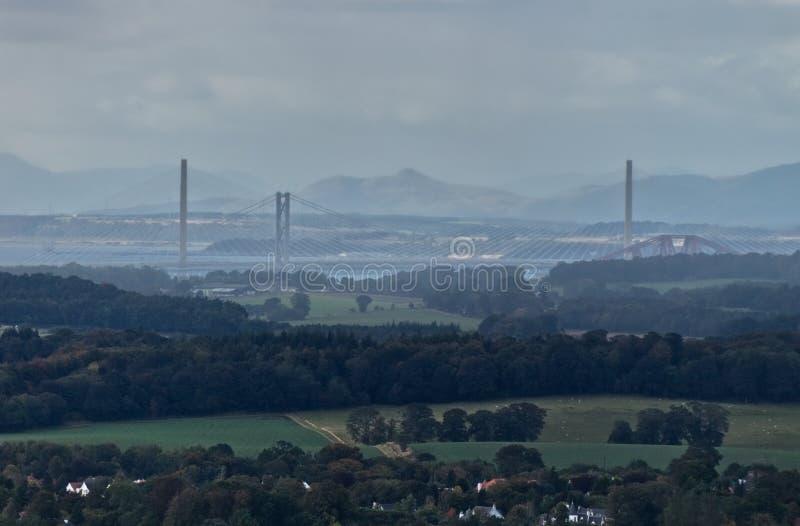 Mosty nad Firth Naprzód blisko Edynburg, Szkocja obrazy stock