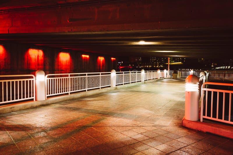 Mosty nad Hillsborough rzeką widzieć od Riverwalk przy n obraz stock