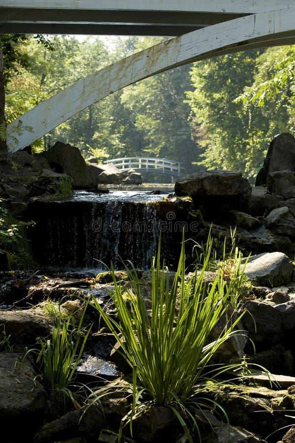 mosty ponad 2 przy wodospadzie obraz royalty free