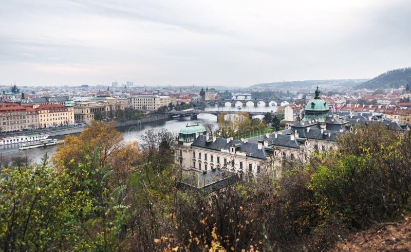 Mosty Praga, republika czech fotografia royalty free