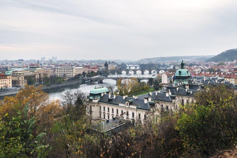 Mosty Praga, republika czech zdjęcia royalty free