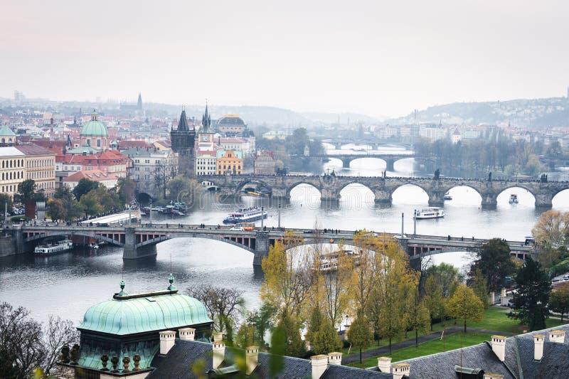 Mosty Praga, republika czech obraz royalty free
