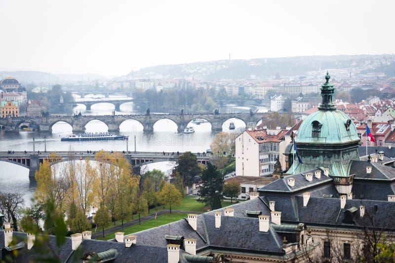Mosty Praga, republika czech obrazy stock