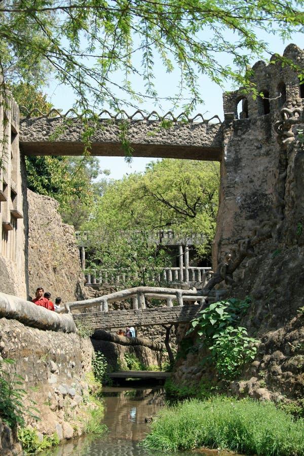 Mosty przy Nek Chand Wybitnym ogródem obrazy stock