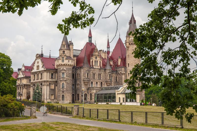 Moszna Castle built in XVII century is one of the best known monuments in Upper Silesia stock photos