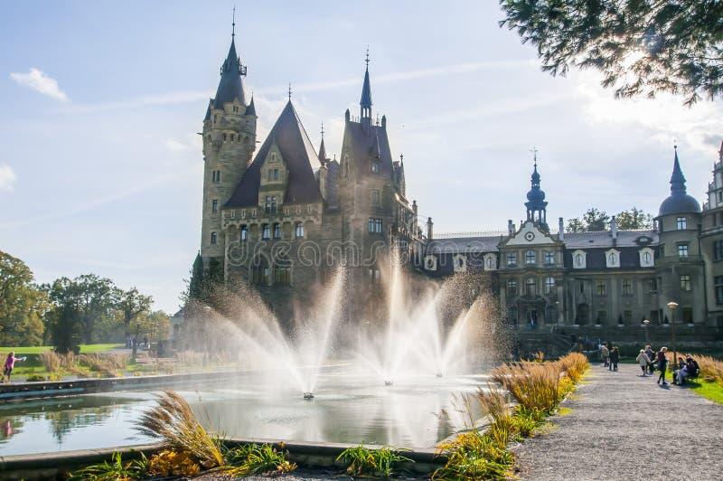 Moszna Castle, Silesia, Poland, October 2017. royalty free stock photography