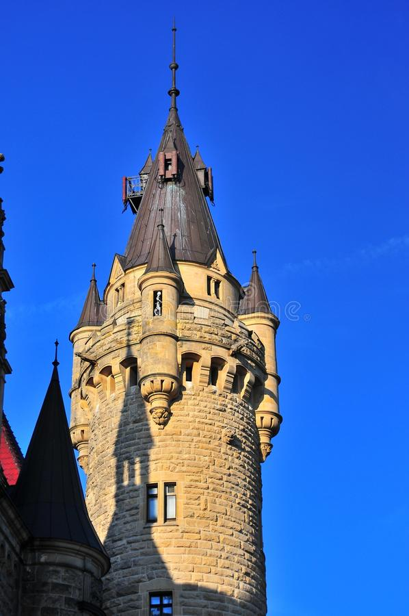Moszna castle stock photography