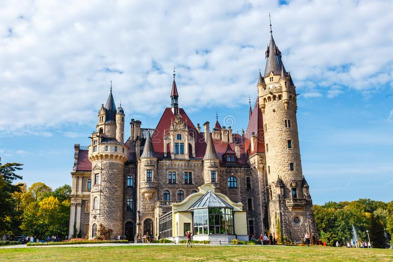 Moszna Castle, historic palace located in a village of Moszna, Upper Silesia, Poland royalty free stock photo
