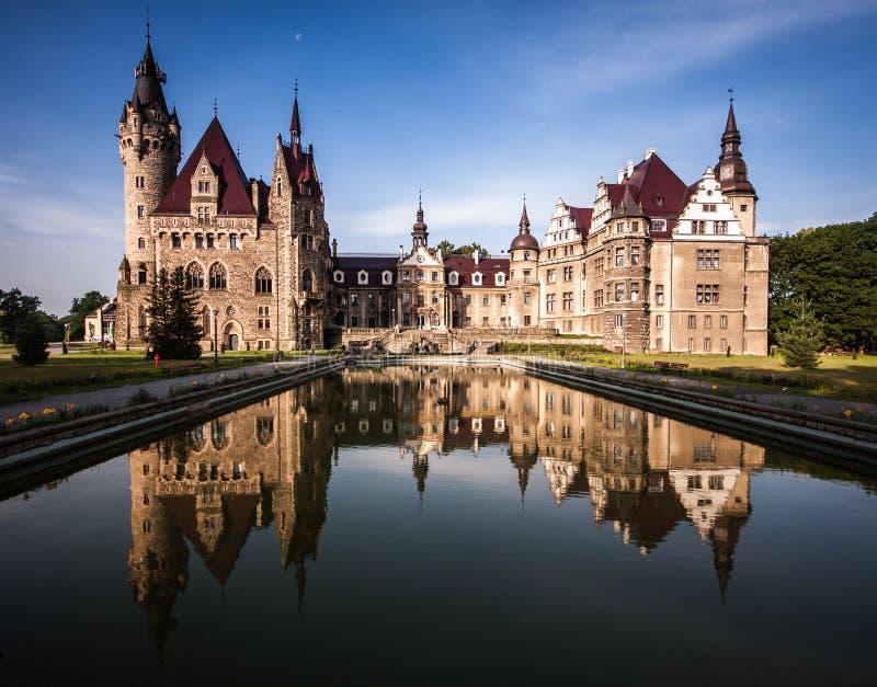 Moszna slott royaltyfri foto