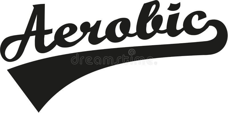 Mot aérobie illustration de vecteur