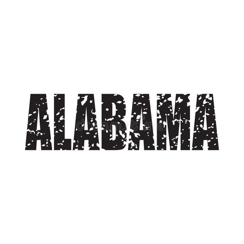 Mot affligé grunge de l'Alabama Illustration de vecteur illustration libre de droits