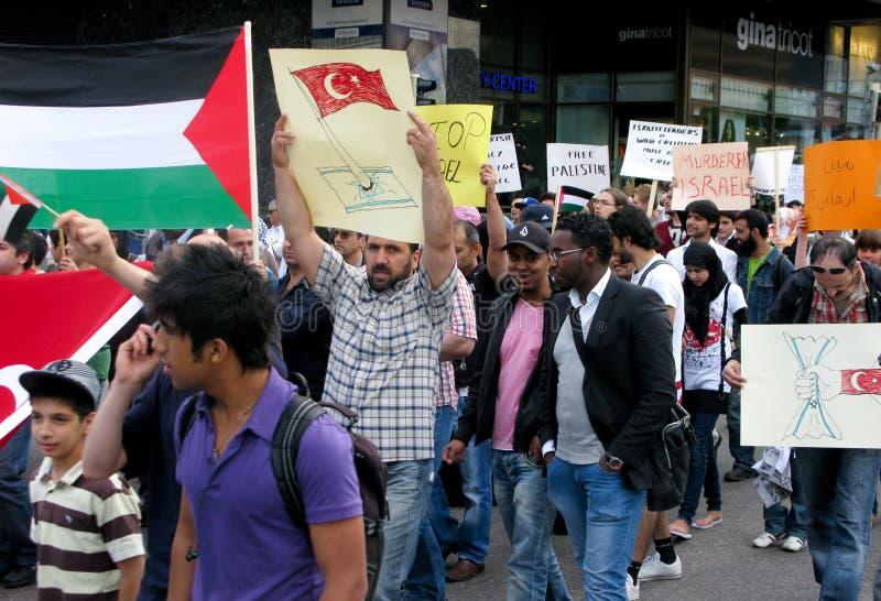mot attackdemonstrationen israel s arkivfoton