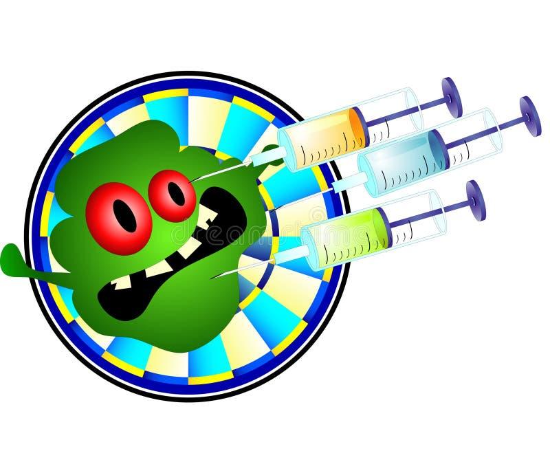 mot bakterieinjektion royaltyfri illustrationer
