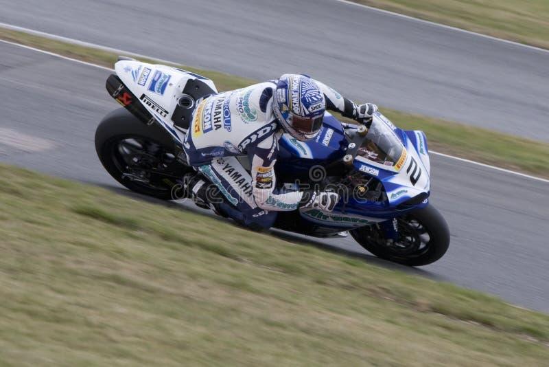 MOT: Britische Superbike Vorwärmung stockfotos