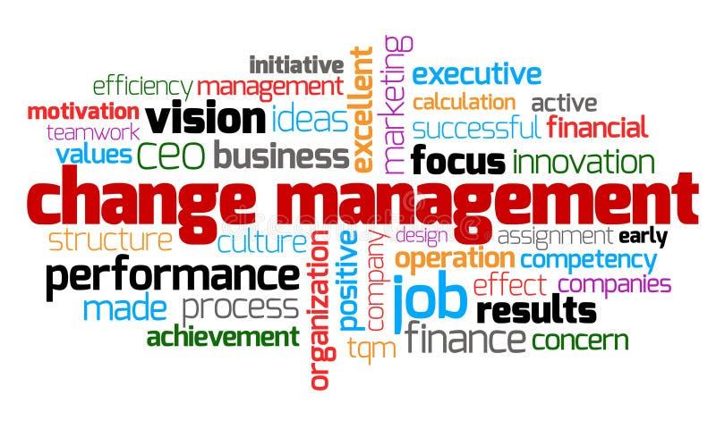 Mot-clé de gestion de changements illustration libre de droits