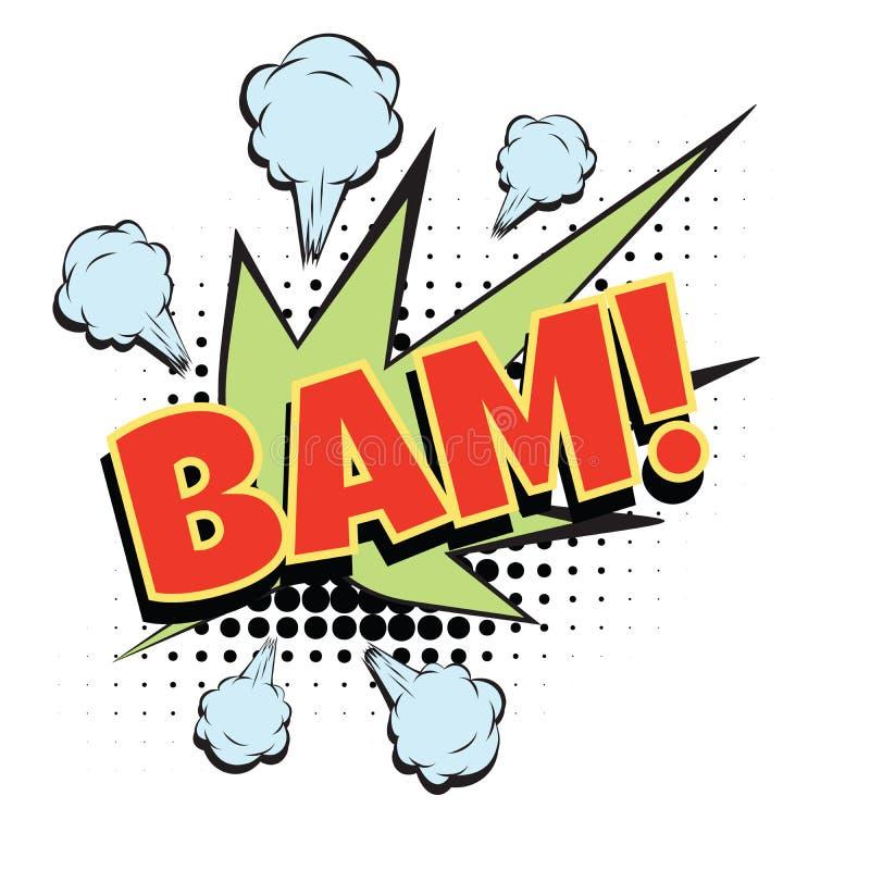 Mot comique de bam illustration libre de droits