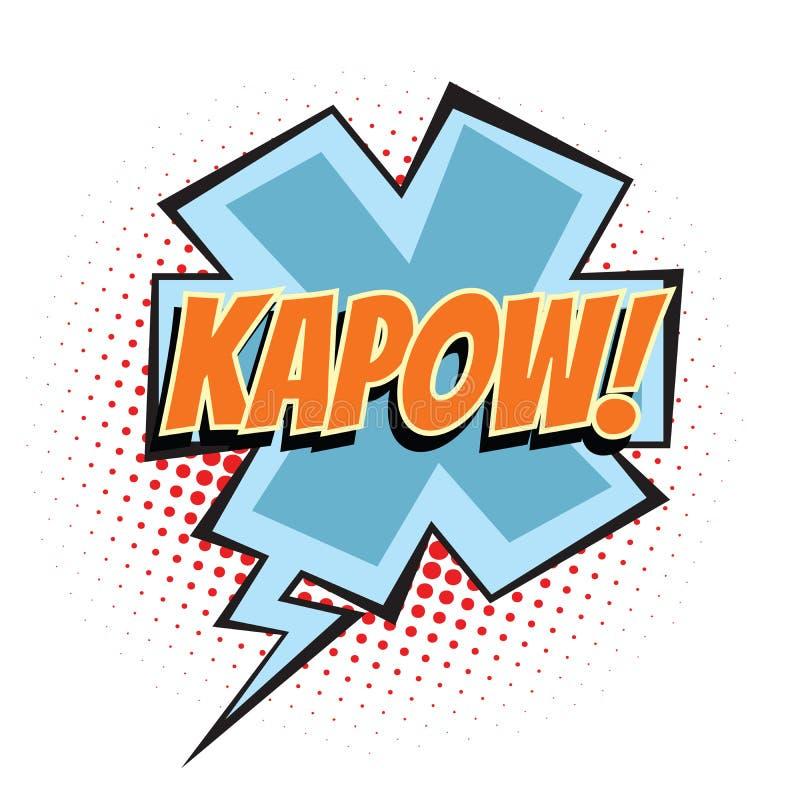 Mot comique de Kapow illustration de vecteur